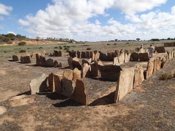 Sheep yard made from thin granite slabs