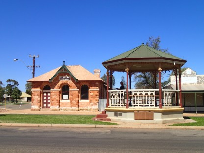 Bank of New South Wales and Gazebo in the medium strip