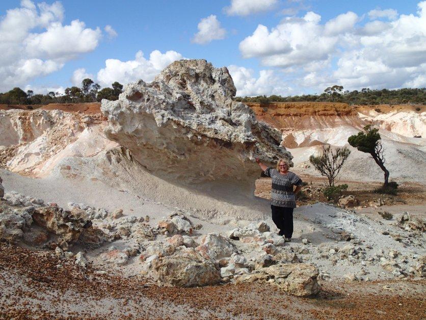 Harder rock than the surrounding soil