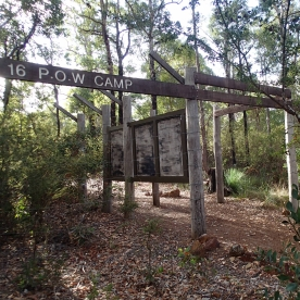 Walk Trail entrance to POW site