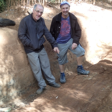Geoff and Richard at the deepest point.