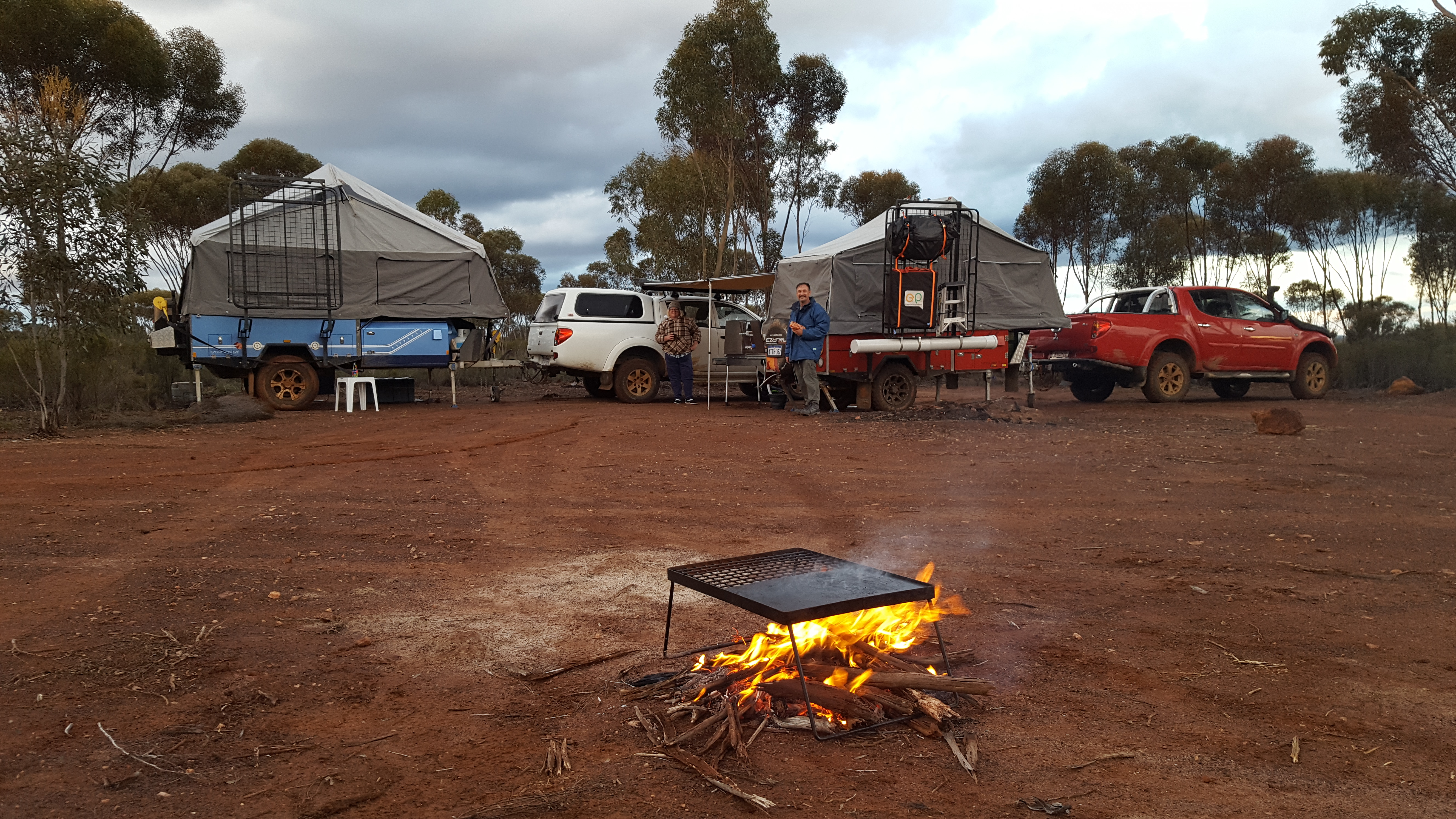 Camp ground before the storm