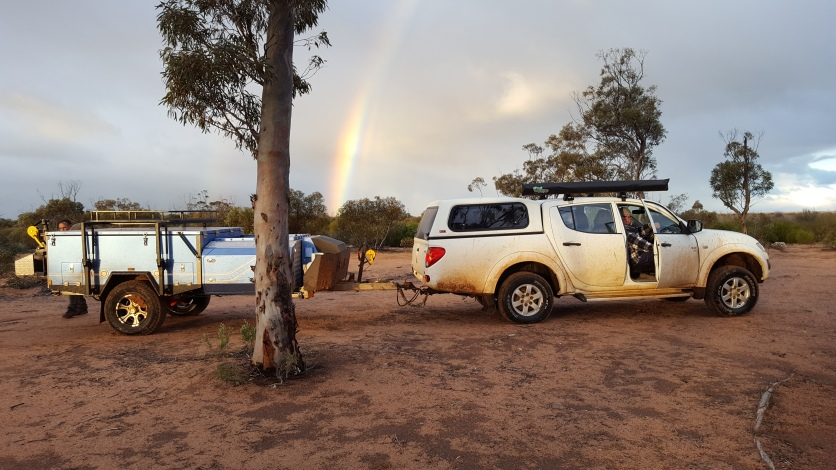 The mighty Triton and Camper at Blazed Tree Camp