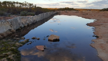 Water is trapped and directed into the dam. Well If more water then it would flow rather than just form pools