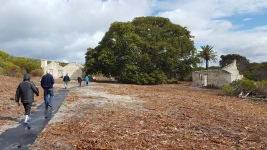 Walking towards the main dwelling
