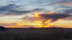 Sunset through the smoke