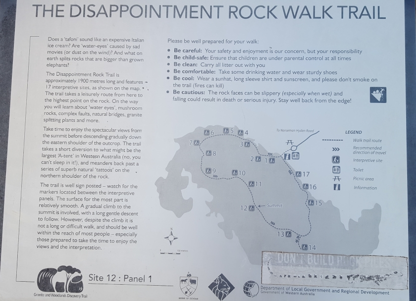 Disappointment Rock Walk Trail