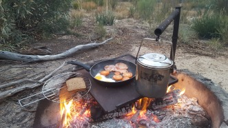Nothing beats cooking on a campfire