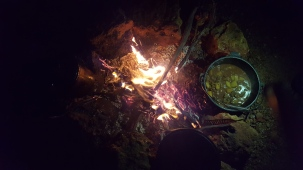 Camp oven stew.