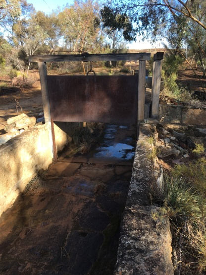 Divert water into surrounding bush once dam was full