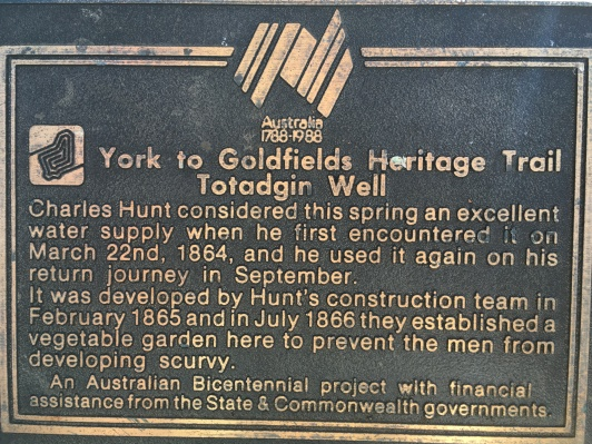 Part of the now defunct York to Goldfields Heritage Trail